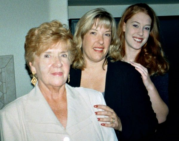 My wonderful Mom with Lindsey and I many years ago.